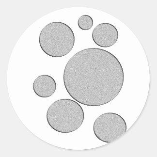 círculos de piedra pegatina redonda