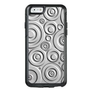 Círculos de plata funda otterbox para iPhone 6/6s
