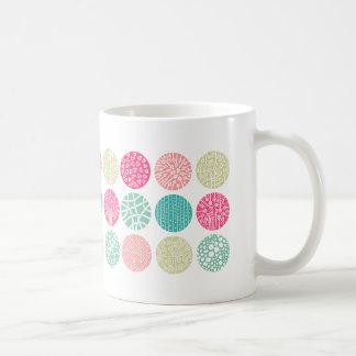 Círculos decorativos - colores 01 taza