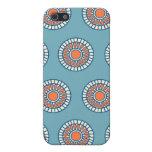 Círculos decorativos de la mandala azul y anaranja iPhone 5 cárcasas