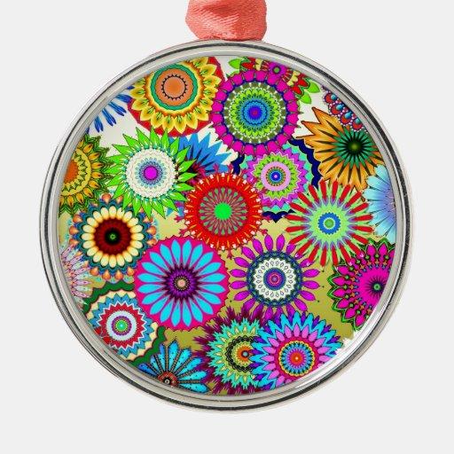 ¡Círculos del arco iris! Adorno Para Reyes