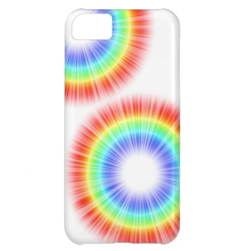 Círculos del arco iris funda para iPhone 5C