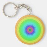 Círculos del arco iris llavero personalizado
