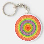 Círculos del arco iris llaveros