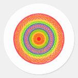 Círculos del arco iris pegatina redonda