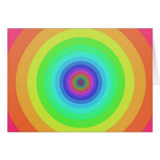 Círculos del arco iris tarjetón