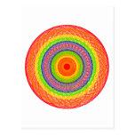 Círculos del arco iris tarjeta postal