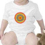 Círculos del arco iris traje de bebé