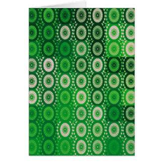 Círculos del arte verde y blanco de Digitaces Tarjeta De Felicitación