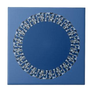 círculos del azul real azulejos