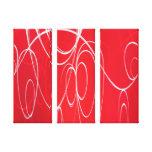 Círculos del baile lienzo envuelto para galerías