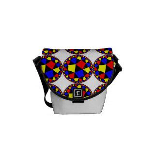 Círculos del color primario bolsas messenger