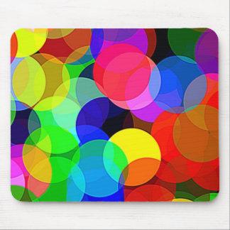 Círculos del color tapetes de raton