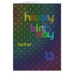Círculos del cumpleaños para el hermano envejecido felicitacion