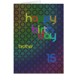 Círculos del cumpleaños para el hermano envejecido felicitación