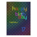 Círculos del cumpleaños para el sobrino envejecido felicitacion