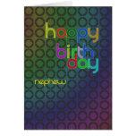 Círculos del cumpleaños para el sobrino tarjeta