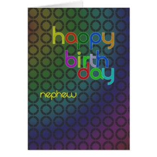 Círculos del cumpleaños para el sobrino tarjeta de felicitación