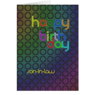 Círculos del cumpleaños para el yerno tarjeta de felicitación