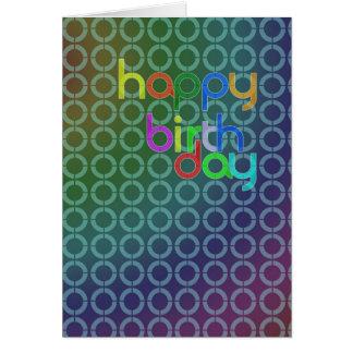 Círculos del cumpleaños tarjeta de felicitación