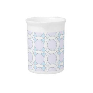 círculos del diseño 70s, azules jarra