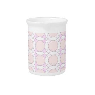 círculos del diseño 70s, rosados jarras de beber