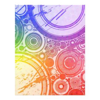 """Círculos del Grunge: Edición del arco iris: Folleto 8.5"""" X 11"""""""
