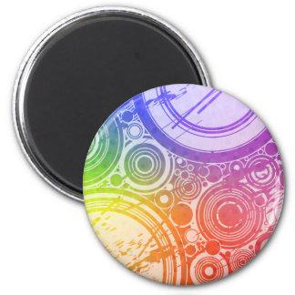 Círculos del Grunge: Edición del arco iris: Imanes Para Frigoríficos