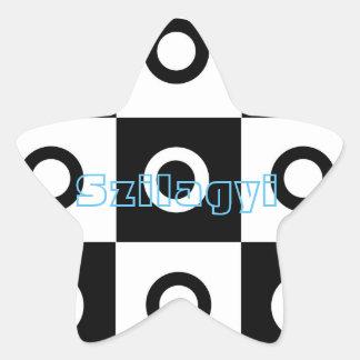 Círculos del inspector pegatina en forma de estrella