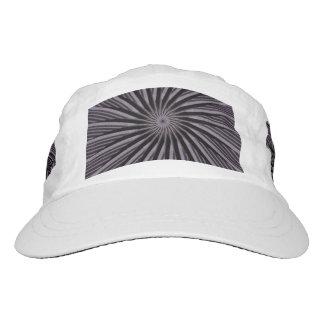 Círculos del negro, grises y blancos de la ilusión gorra de alto rendimiento