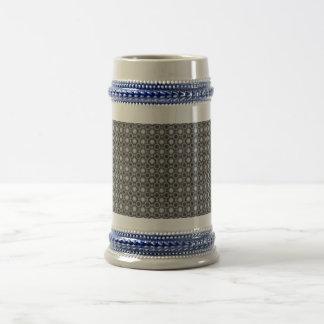 Círculos del negro, grises y blancos de la ilusión tazas de café