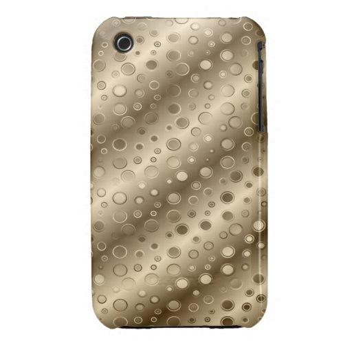 Círculos del oro y de la plata en un modelo sobre iPhone 3 cobertura