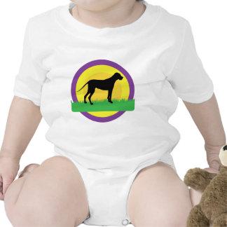 Círculos del perro traje de bebé