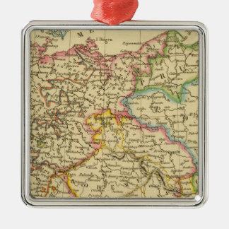 Círculos en Alemania en 1789 Adorno Cuadrado Plateado