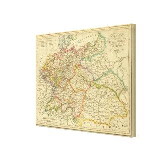 Círculos en Alemania en 1789 Impresión En Tela