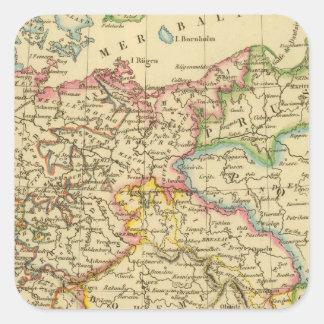 Círculos en Alemania en 1789 Pegatina Cuadrada