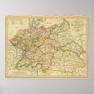 Círculos en Alemania en 1789 Póster