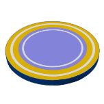Círculos en amarillo y azul juego de fichas de póquer