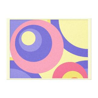 Círculos en colores pastel de la pintura de Digita Lona Estirada Galerias