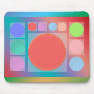 Círculos en cuadrados: Por completo de la vida som Tapete De Ratones