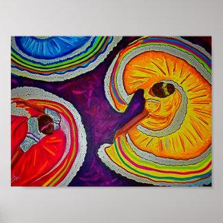 Círculos en la tierra póster