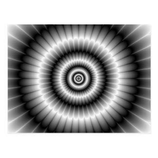Círculos en postal blanco y negro
