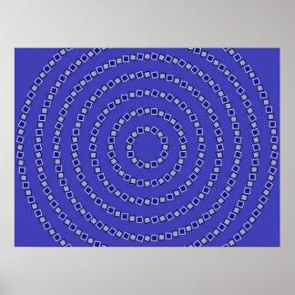 Círculos espirales póster