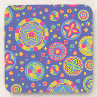 Círculos estrellados del disco posavasos