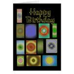 Círculos felices del remiendo de Birthdsy Felicitación