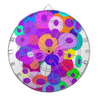 Círculos flotantes del color de fondo de encargo tablero de dardos