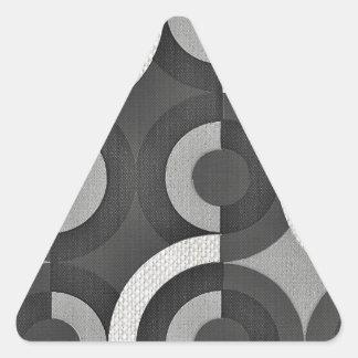 Círculos geométricos de la MOD de la mirada multi Pegatina Triangular