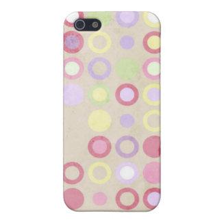 Círculos geométricos de los lunares rosados lindos iPhone 5 protectores