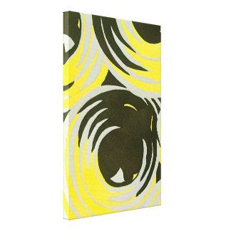 Círculos geométricos del jazz de Pochoir del art Impresión En Lienzo