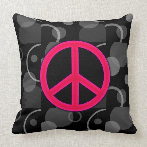 Círculos geométricos del signo de la paz almohadas